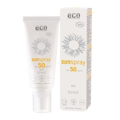Eco Cosmetics Sonnenspray sensitive LSF 50 getönt mit Q10 100ml