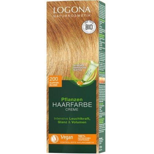 Logona Pflanzen Haarfarbe Creme 200 kupferblond 150ml