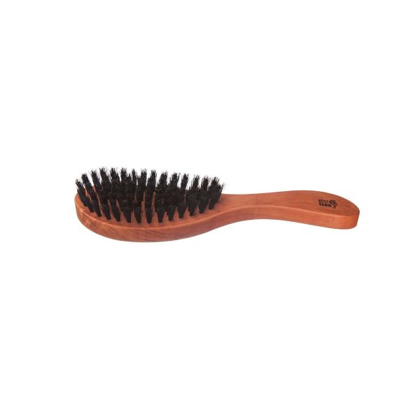 Kost Kamm Haarpflegebürste, ergonomisch, weiche Borste, Birnbaum, Wildschweinborste, 7-reihig