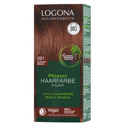 Logona Pflanzen Haarfarbe Pulver 091 schokobraun 100g