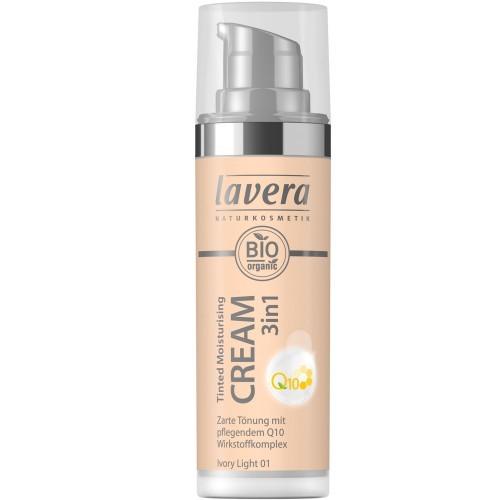 Lavera Tinted Moisturizing Cream 3in1 Q10 - Ivory Light 01 getönte Feuchtigkeitscreme 30ml