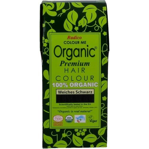 Radico Biologische Pflanzenhaarfarbe Premium Soft Black - Schwarz 100g