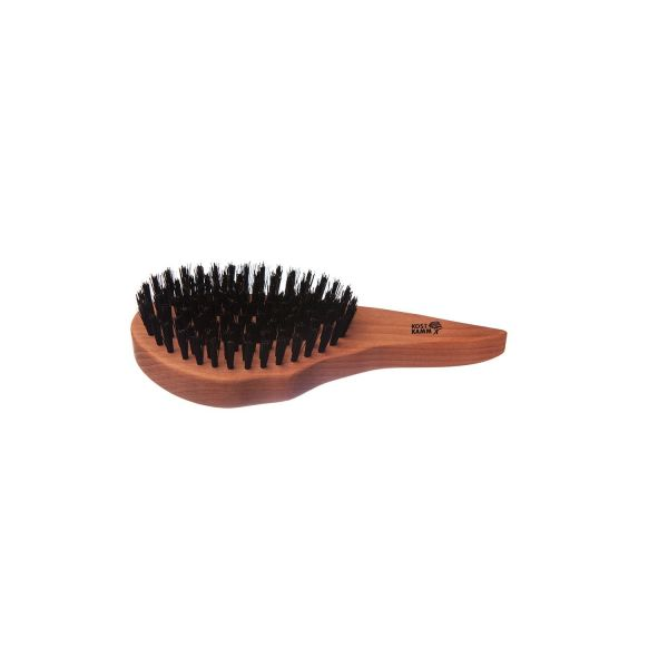 Kost Kamm Haarpflegebürste, Tropfen, Birnbaum, extra harte Wildschweinborste, 9-reihig