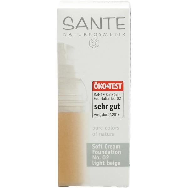 Sante Soft Cream Foundation Light Beige Nr.2 - Creme Make up 30ml