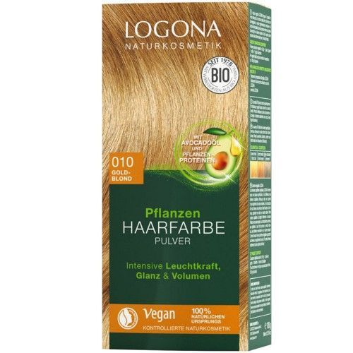 Logona Pflanzen Haarfarbe Pulver 010 goldblond 100g