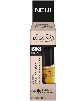 Logona Natural Nail Top Coat - Zertifizierter Naturkosmetik Schutzlack 4ml