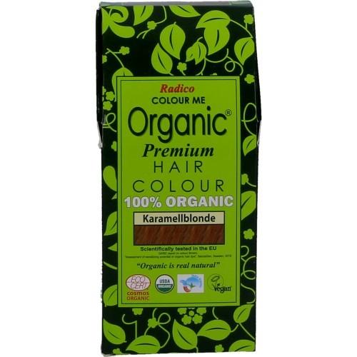 Radico Biologische Pflanzenhaarfarbe Premium Karamel 100g
