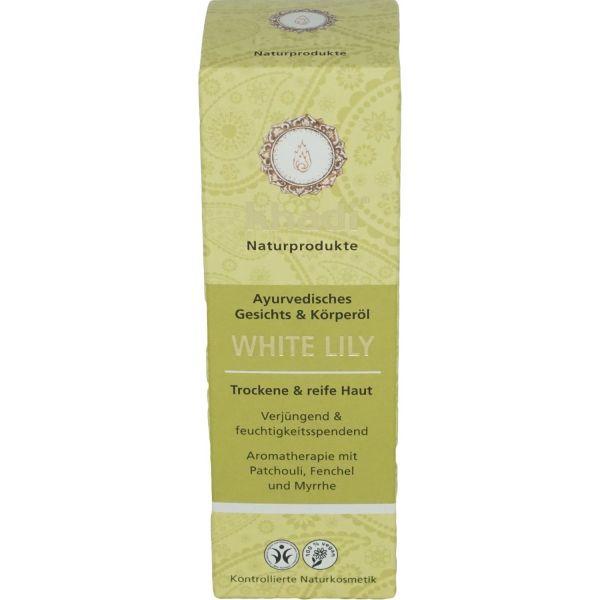 Khadi Gesichtsöl und Körperöl White LiLy - trockene und reife Haut 100ml