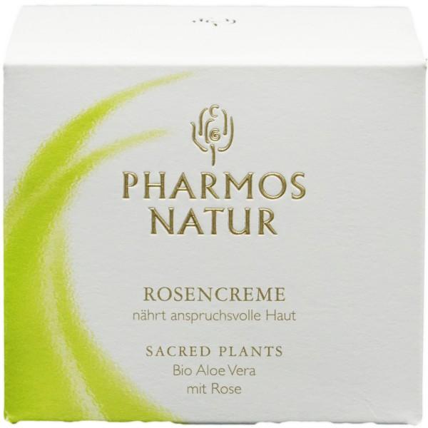 Pharmos Natur Rosencreme Bio Aloe mit Rose 50ml