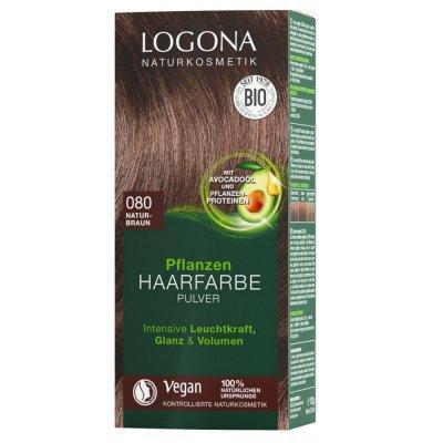 Logona Pflanzen Haarfarbe Pulver 080 naturbraun 100g