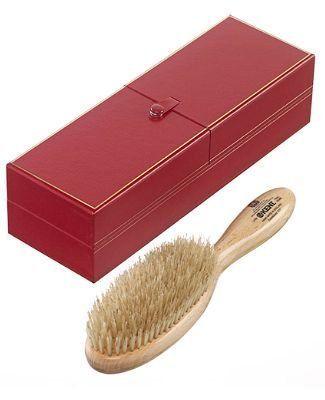 Kent Wildschweinborsten Haarpflegebürste groß oval - 100% Handarbeit