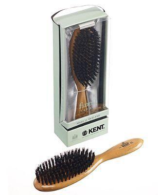 Kent Wildschweinborsten Haarpflegebürste groß oval dunkel - Finest Ladies Handarbeit