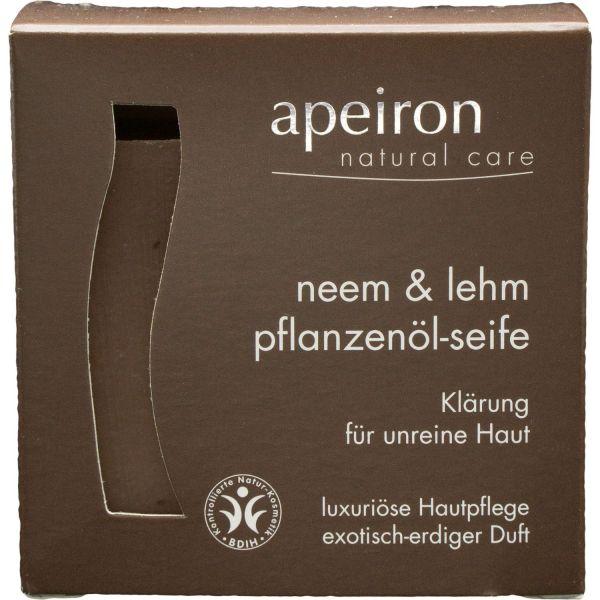Apeiron Pflanzenölseife Neem & Lehm 100g