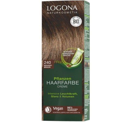 Logona Pflanzen Haarfarbe Creme 240 Nougatbraun 150ml
